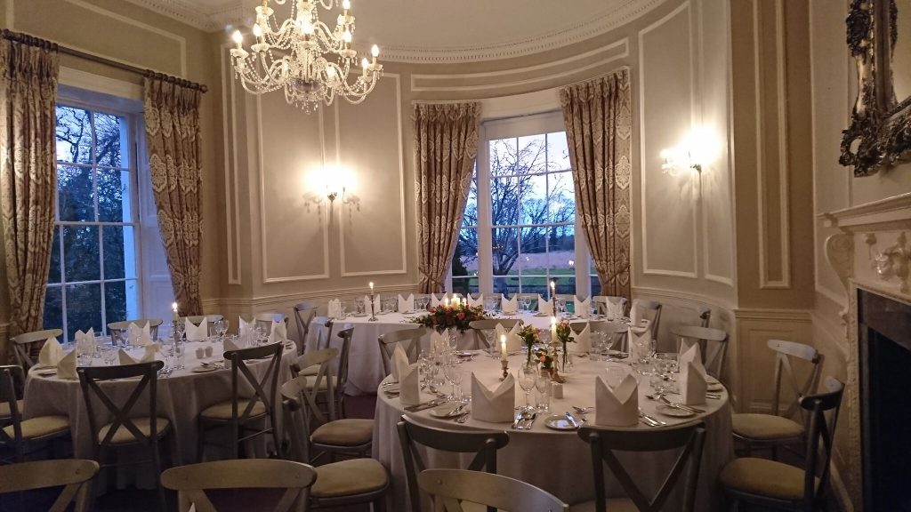 Wedding set up Manor Rooms